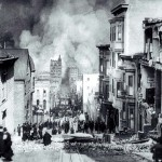 1906 San Francisco Earthquake Looking Down Sacramento Street