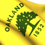Flag of Oakland, USA.