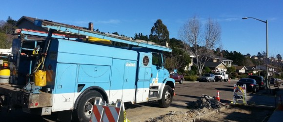 PG & E at work.